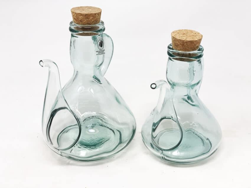 Verano-Spanish-Ceramics-Recycled-Glass-Cruets-with-corks-2