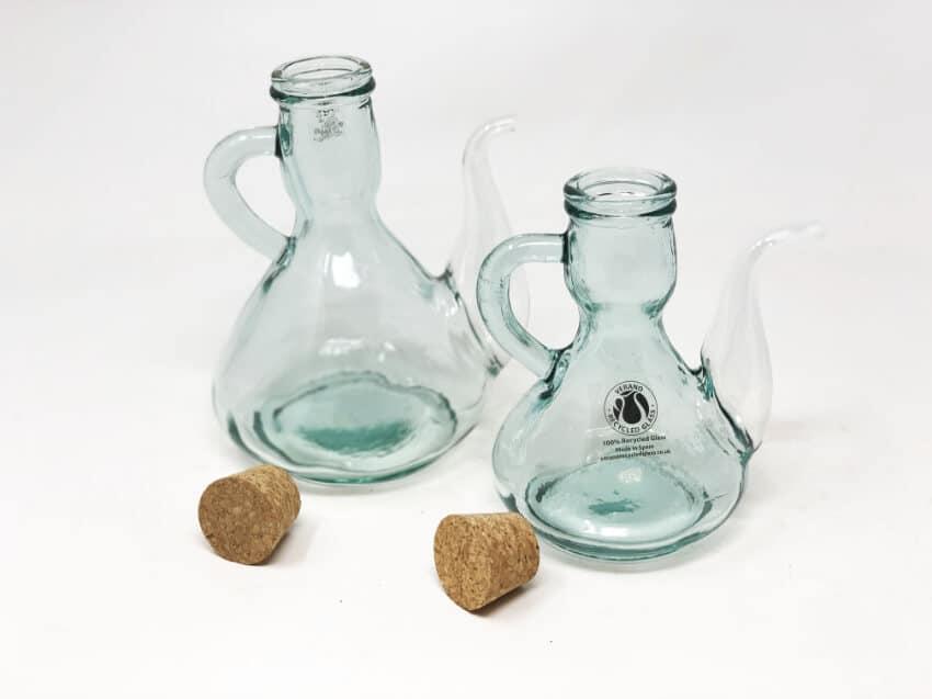 Verano-Spanish-Ceramics-Recycled-Glass-Cruets-with-corks-4