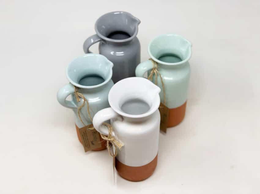 Verano-Spanish-Ceramics-Rustic-Pastel-Bottle-Jug-Half-Dipped-5