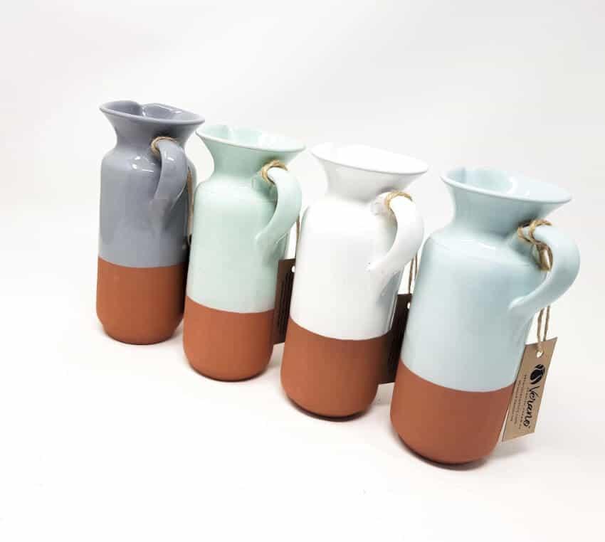 Verano-Spanish-Ceramics-Rustic-Pastel-Bottle-Jug-Half-Dipped-7