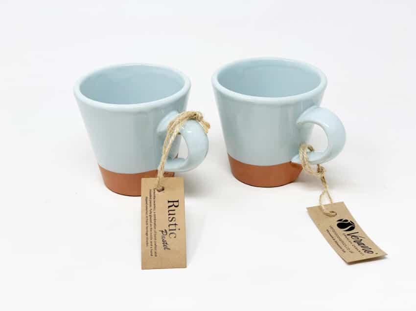 Verano-Spanish-Ceramics-Rustic-Pastel-Conical-Mug-Half-Dipped-1