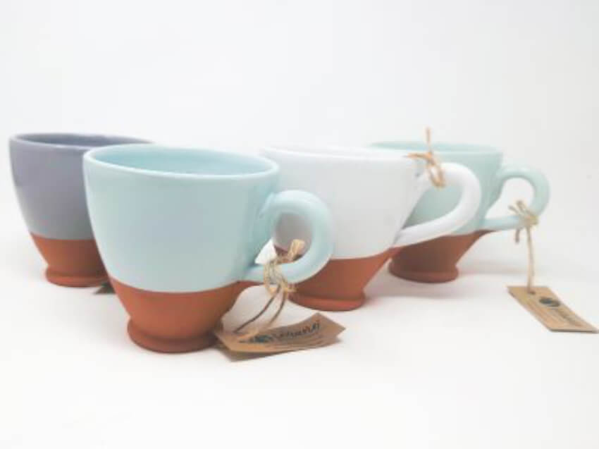 Rustic Pastel - Sets Of 2 Everyday Cups (Half Dipped)