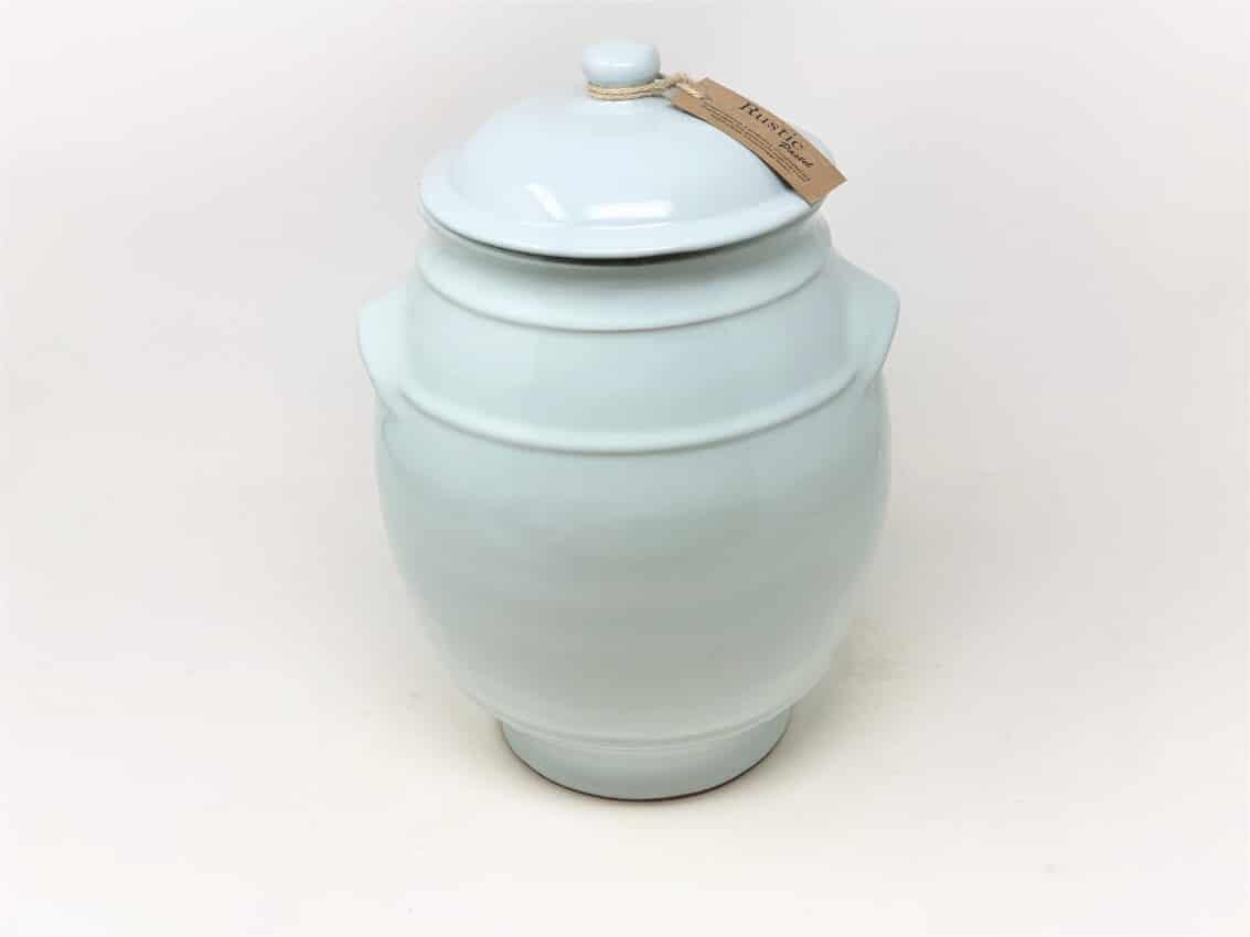 Verano-Spanish-Ceramics-Rustic-Pastel-Large-Storage-Jar-Duck-Egg-Blue-1