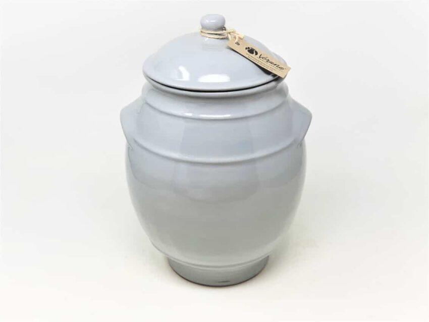 Verano-Spanish-Ceramics-Rustic-Pastel-Large-Storage-Jar-Grey-1