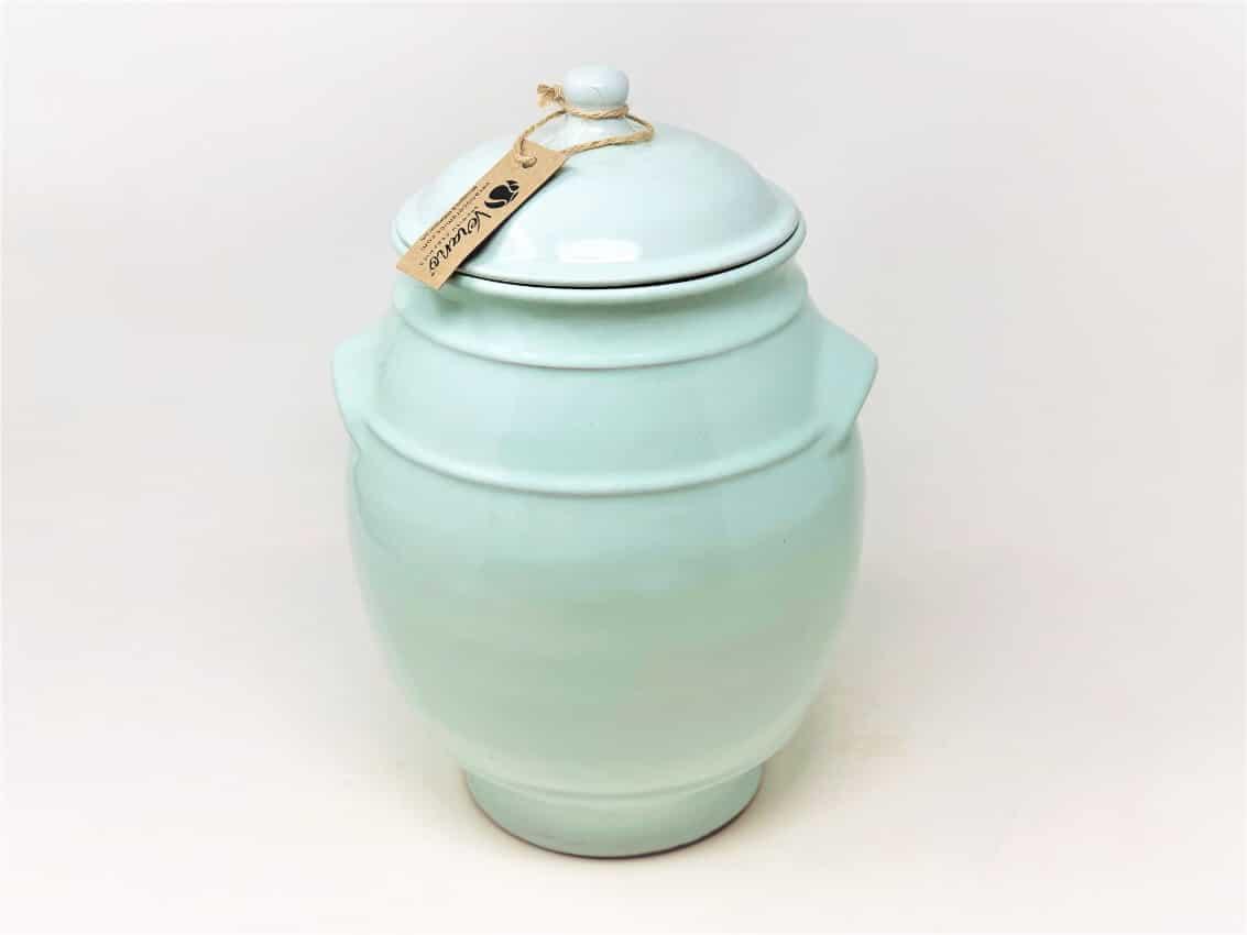 Verano-Spanish-Ceramics-Rustic-Pastel-Large-Storage-Jar-Pale-Green-1