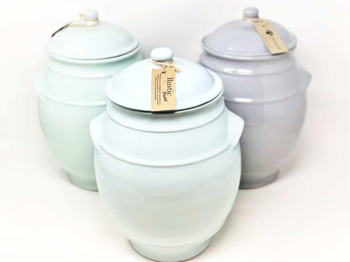 Rustic Pastel - Large Storage Jar With Lid