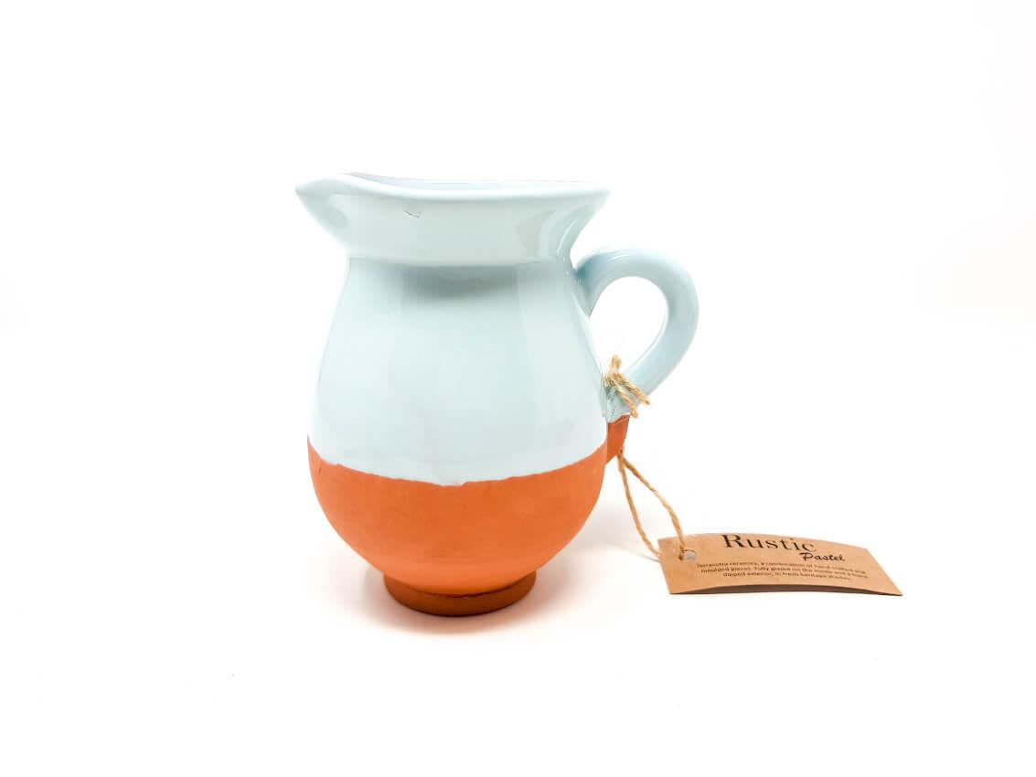 Verano-Spanish-Ceramics-Rustic-Pastel-Mini-Jug-Duck-Egg-Blue-2