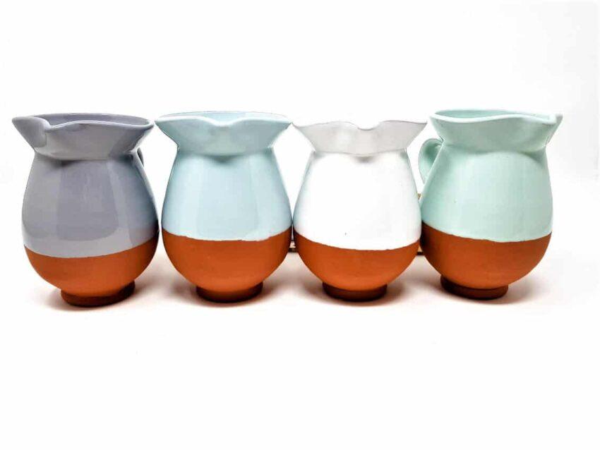 Verano-Spanish-Ceramics-Rustic-Pastel-Mini-Jug-Group-Face-On