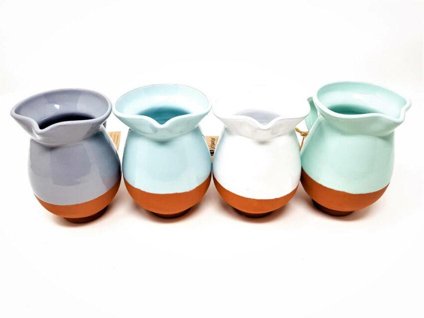Verano-Spanish-Ceramics-Rustic-Pastel-Mini-Jug-Group-Row