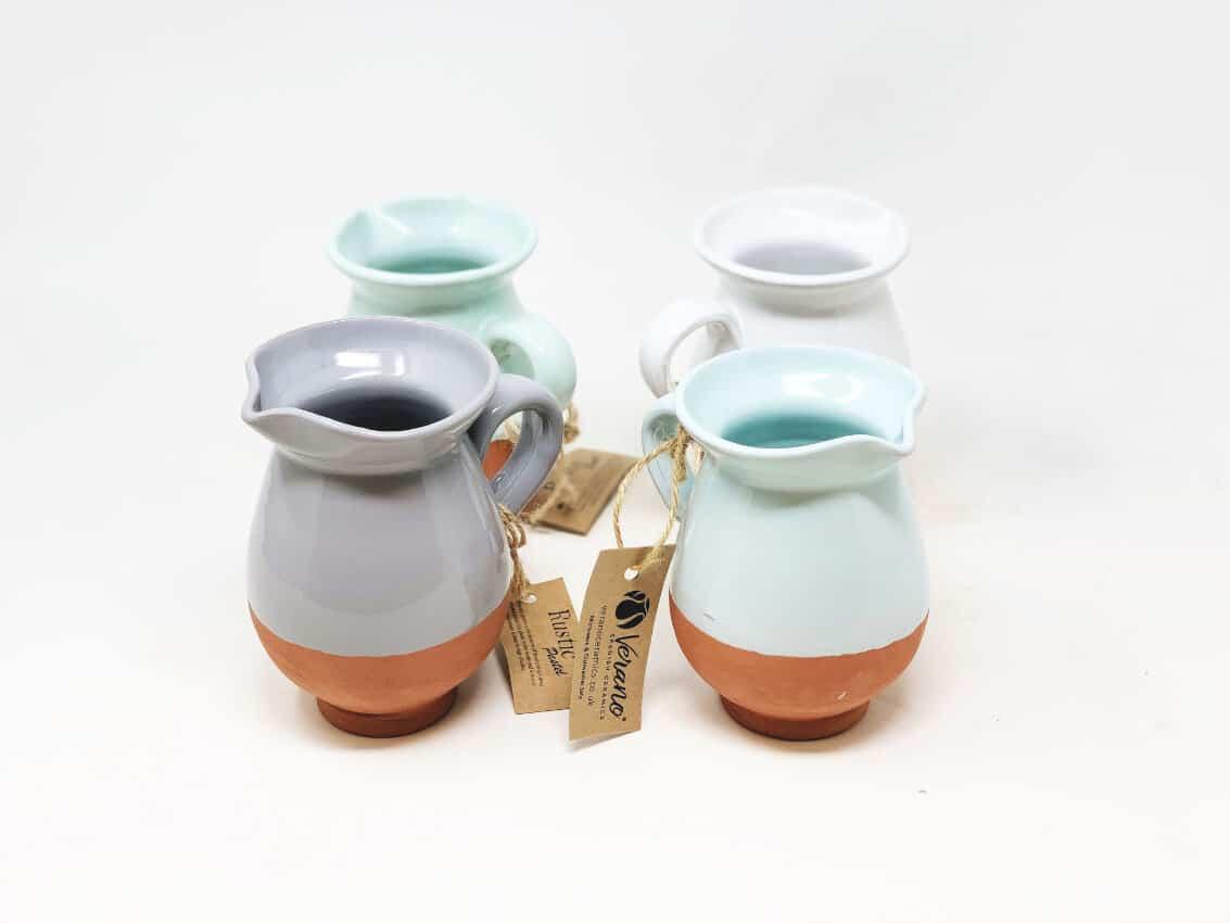 Verano-Spanish-Ceramics-Rustic-Pastel-Mini-Jug-Group1