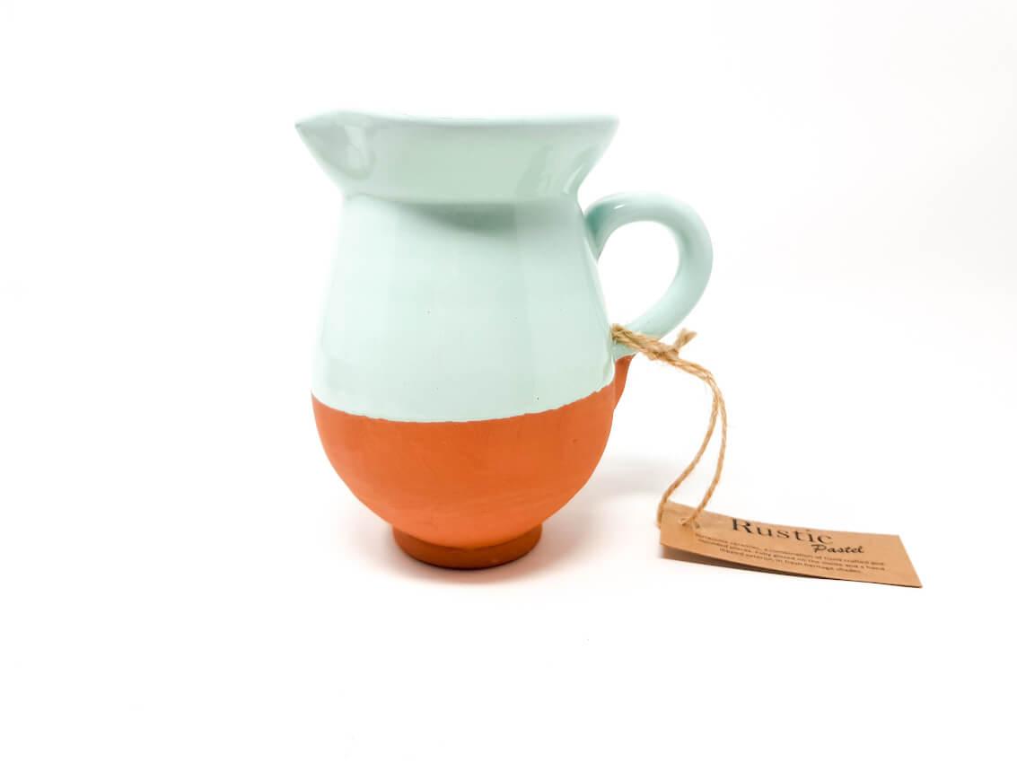 Verano-Spanish-Ceramics-Rustic-Pastel-Mini-Jug-Pale-Green-2