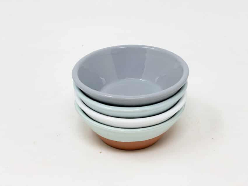 Verano-Spanish-Ceramics-Rustic-Pastel-Set-of-4-Tapas-Bowls-Half-Dipped-1