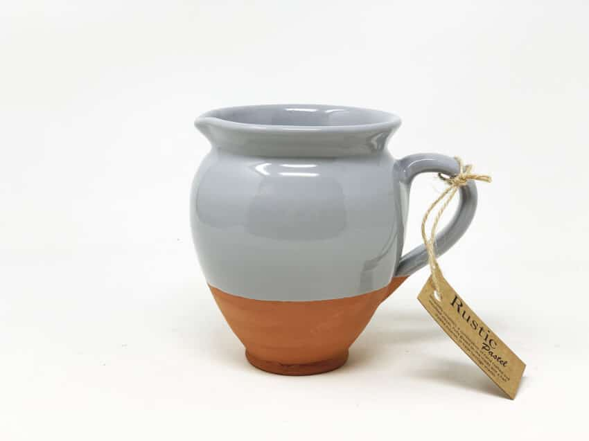 Verano-Spanish-Ceramics-Rustic-Pastel-Small-Belly-Jug-Half-Dipped-1