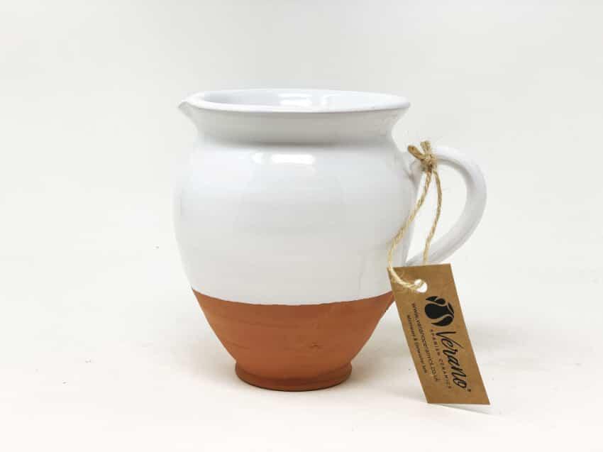 Verano-Spanish-Ceramics-Rustic-Pastel-Small-Belly-Jug-Half-Dipped-2