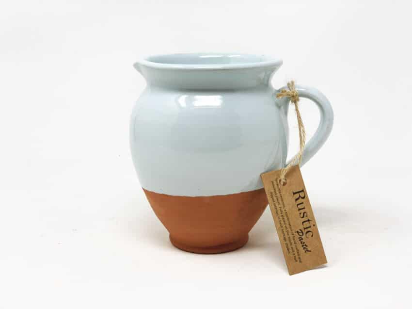 Verano-Spanish-Ceramics-Rustic-Pastel-Small-Belly-Jug-Half-Dipped-3