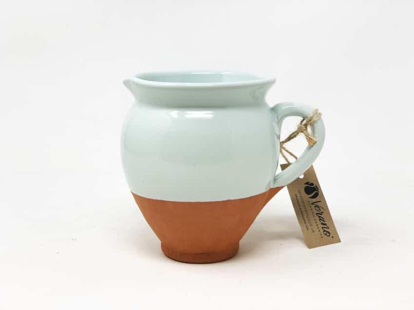 Verano-Spanish-Ceramics-Rustic-Pastel-Small-Belly-Jug-Half-Dipped-4