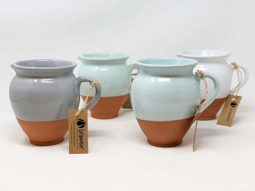 Verano-Spanish-Ceramics-Rustic-Pastel-Small-Belly-Jug-Half-Dipped-5