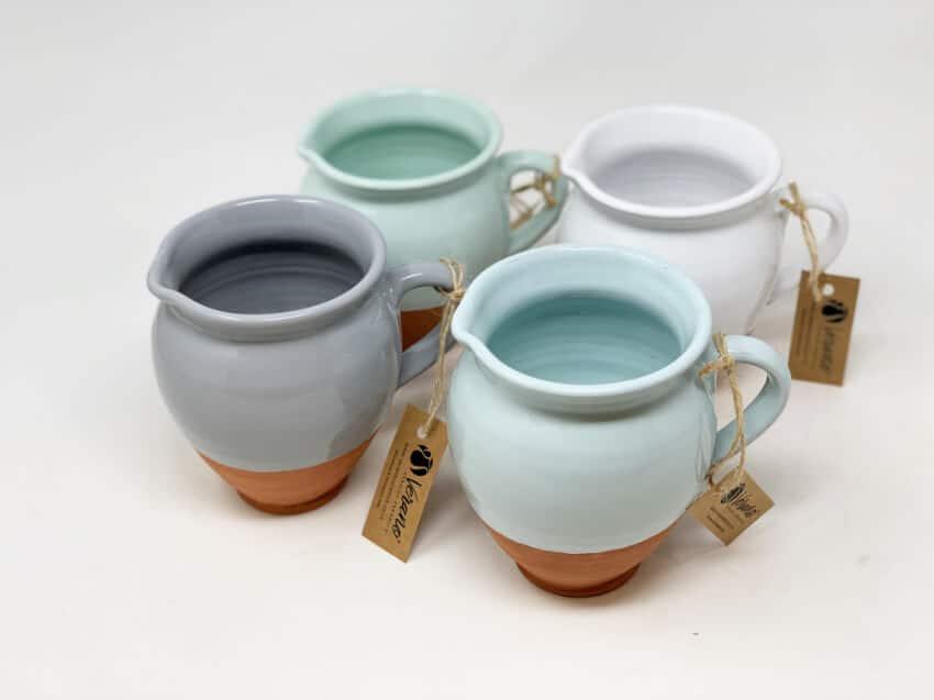 Verano-Spanish-Ceramics-Rustic-Pastel-Small-Belly-Jug-Half-Dipped-6