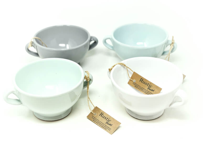 Rustic Pastel - Sets Of Soup Bowls (Fully Dipped)