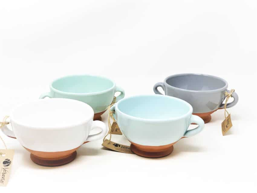 Rustic Pastel - Sets Of Soup Bowls (Half Dipped)