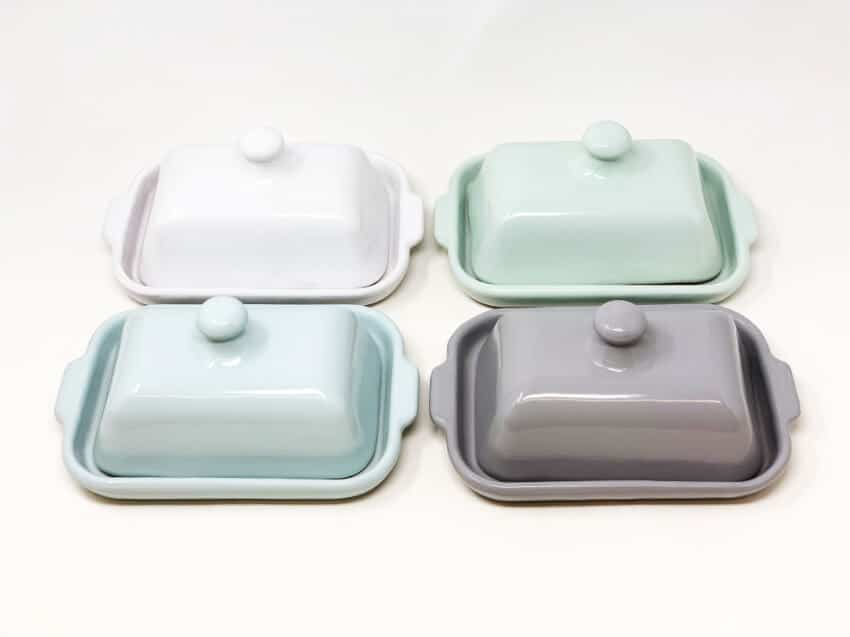 Rustic Pastel Butter Dish
