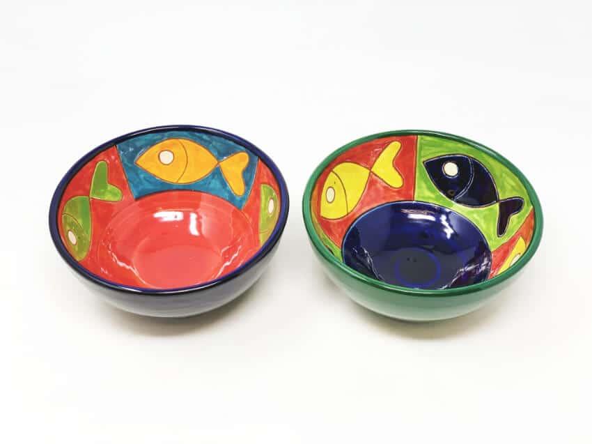 Verano-Spanish-Ceramics-Signature-Big-Fish-Set-of-2-Appetiser-Bowls-4