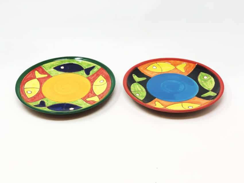 Verano-Spanish-Ceramics-Signature-Big-Fish-Set-of-2-Small-Plates-2