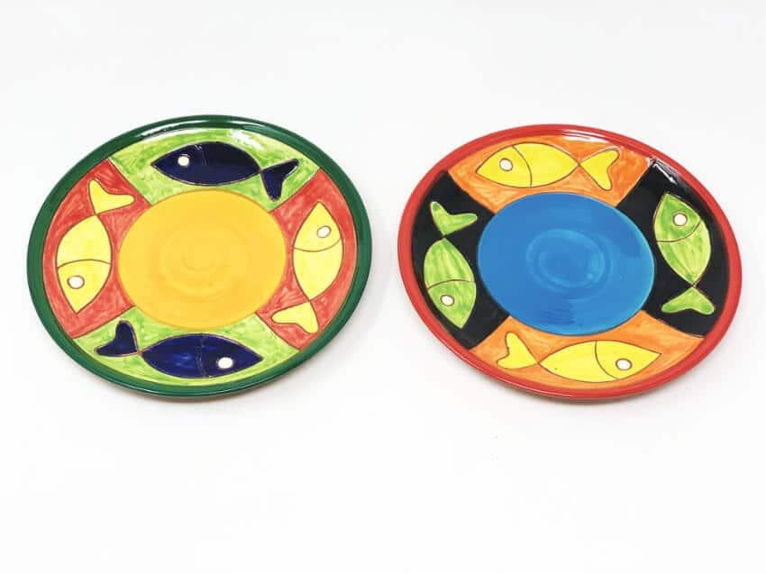 Verano-Spanish-Ceramics-Signature-Big-Fish-Set-of-2-Small-Plates-3