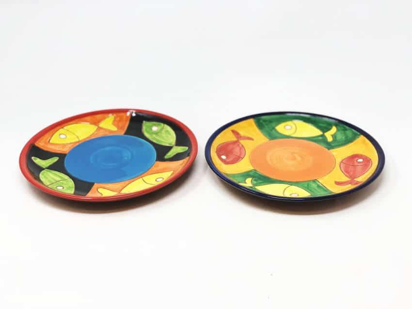 Verano-Spanish-Ceramics-Signature-Big-Fish-Set-of-2-Small-Plates-4