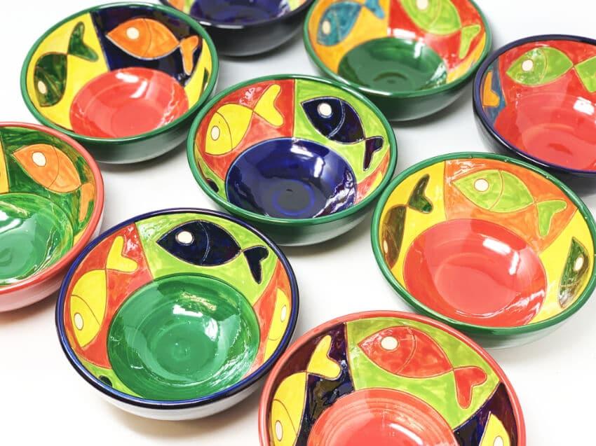 Verano-Spanish-Ceramics-Signature-Big-Fish-Set-of-6-Tapas-Bowls-2