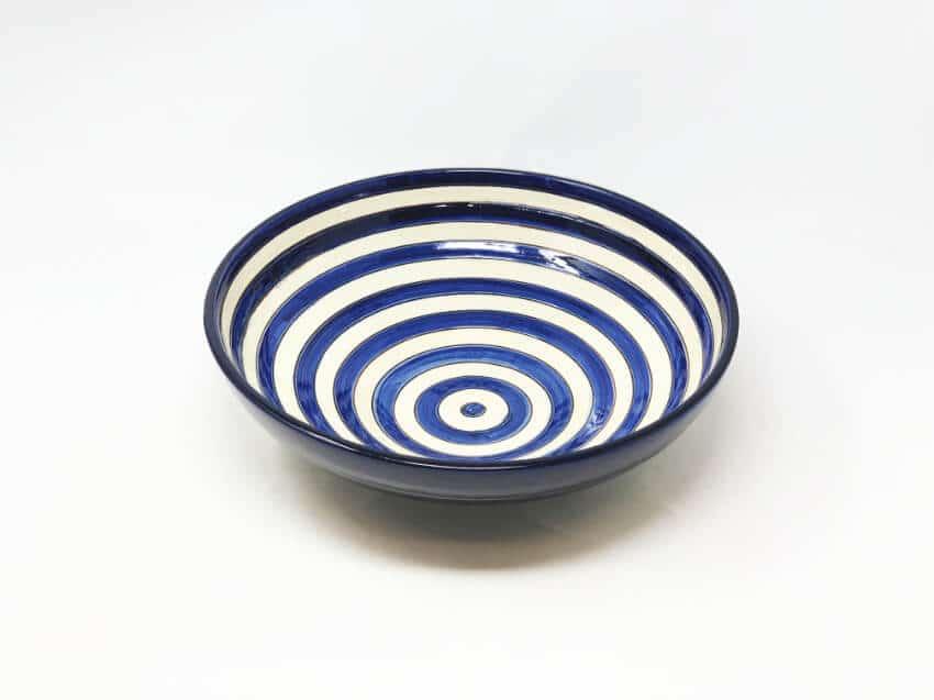 Verano-Spanish-Ceramics-Signature-Blue-Stripe-Bowl-2
