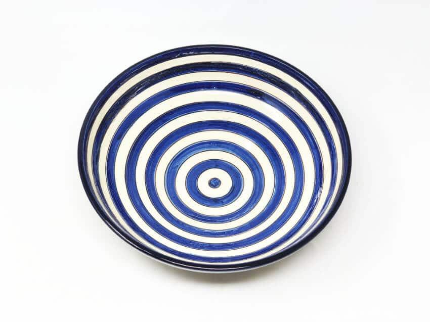 Verano-Spanish-Ceramics-Signature-Blue-Stripe-Bowl-3