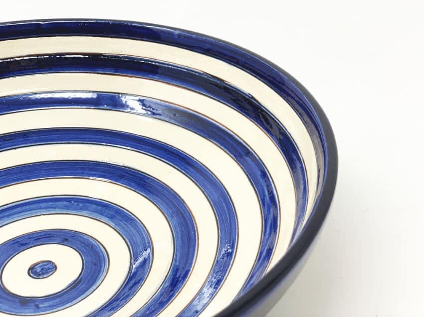 Verano-Spanish-Ceramics-Signature-Blue-Stripe-Bowl-4