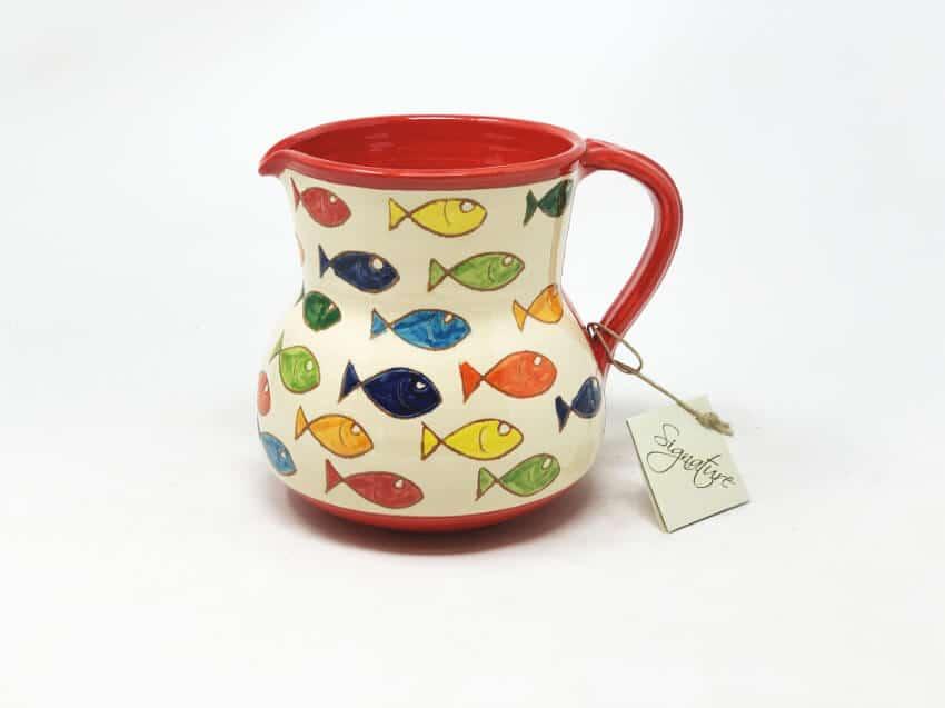 Signature - Coloured Fish - Large Jug