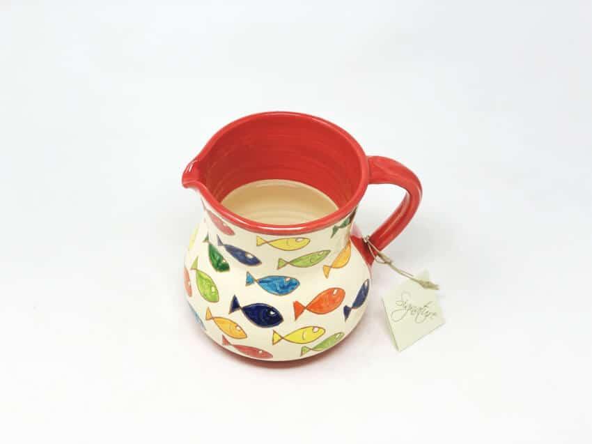 Verano-Spanish-Ceramics-Signature-Coloured-Fish-Large-Jug-2
