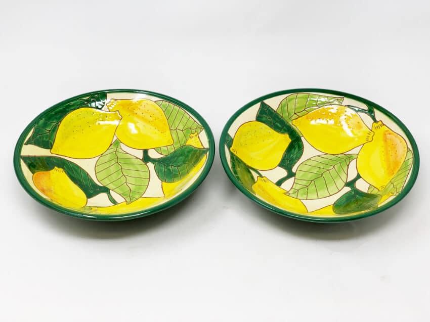 Signature - Lemons - Set Of 2 Pasta Bowls