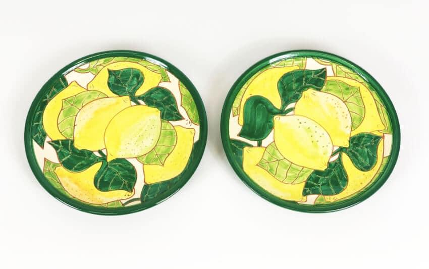 Signature - Lemons - Set Of 2 Small Plates