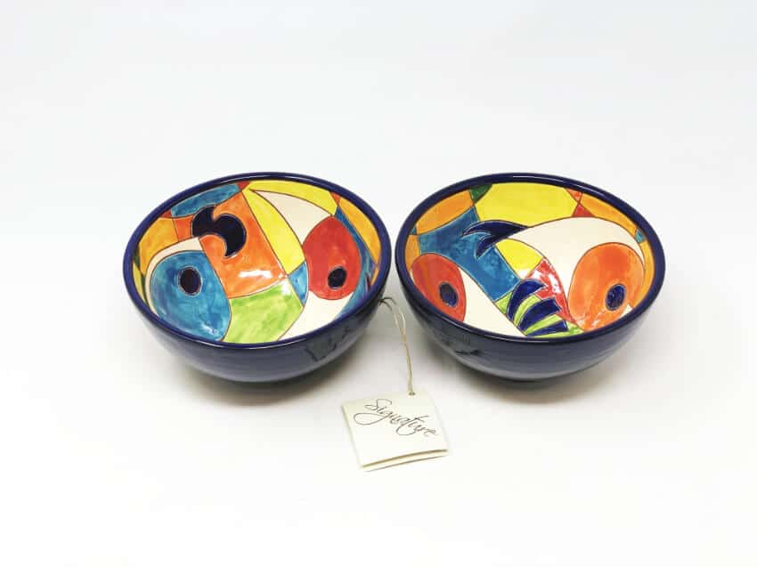 Verano-Spanish-Ceramics-Signature-Moderno-Pez-Set-of-2-Appetiser-Bowl-2