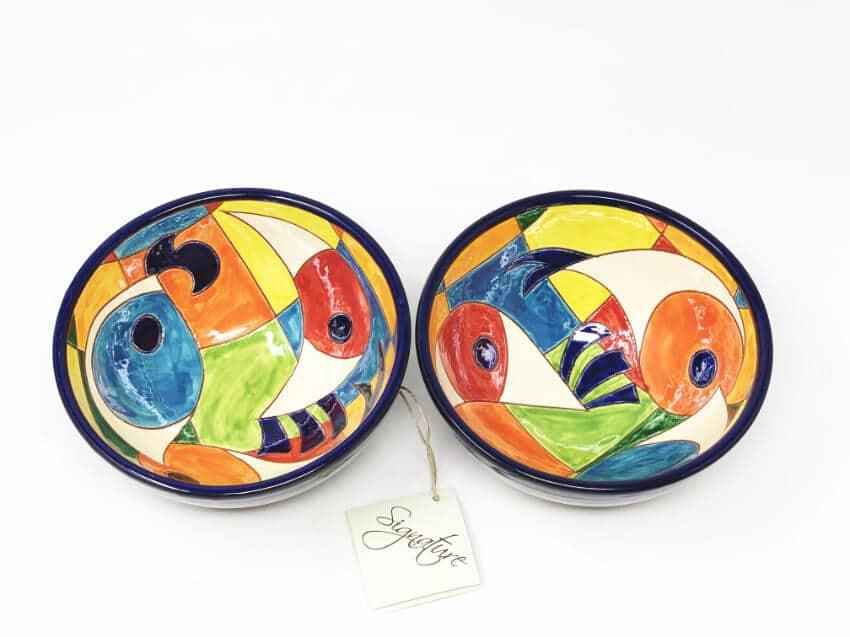 Verano-Spanish-Ceramics-Signature-Moderno-Pez-Set-of-2-Appetiser-Bowl-3