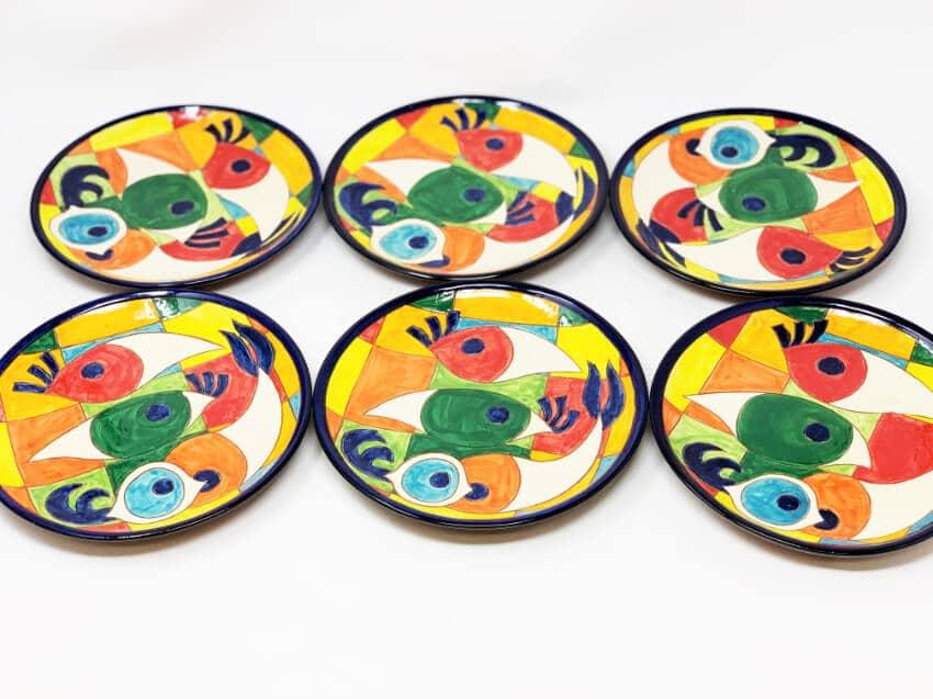 Signature - Moderno Pez - Set Of 6 Small Plates