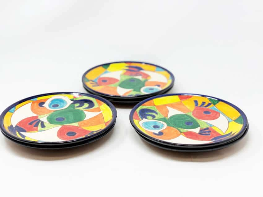 Verano-Spanish-Ceramics-Signature-Moderno-Pez-set-of-6-Plates-2