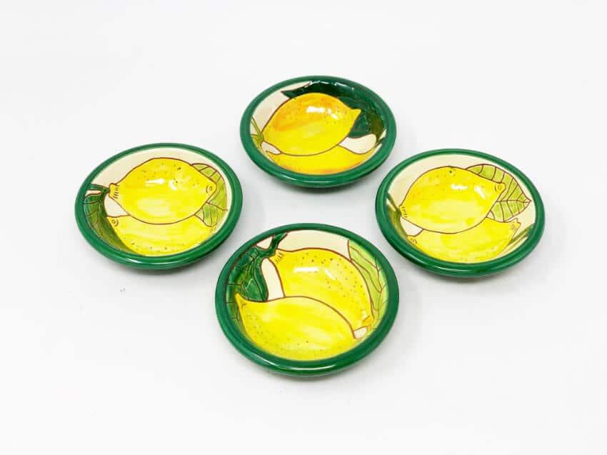 Signature - Lemons - Set Of 4 Mini Tapas Bowls
