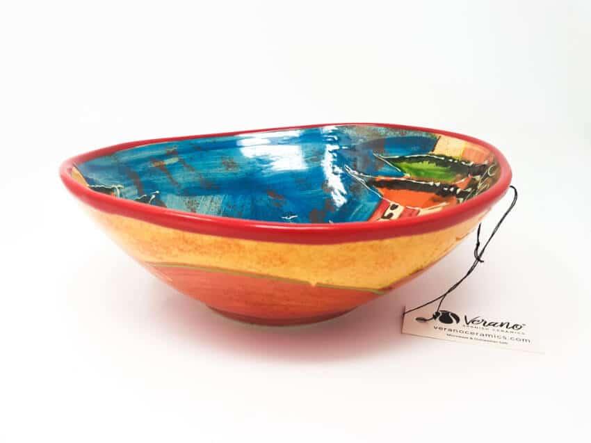 Tuscany - Large Wonky Curvy Bowl