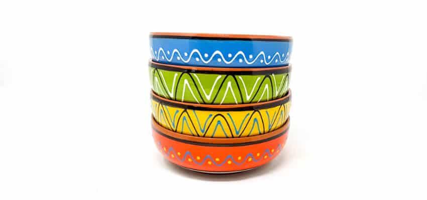 Verano Spanish Cermics Fiesta Serving Bowls 10