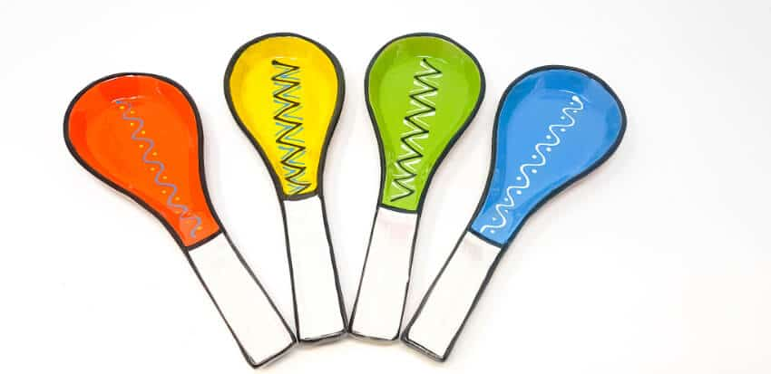 Fiesta - 27Cm Hand Painted Spoon Rests