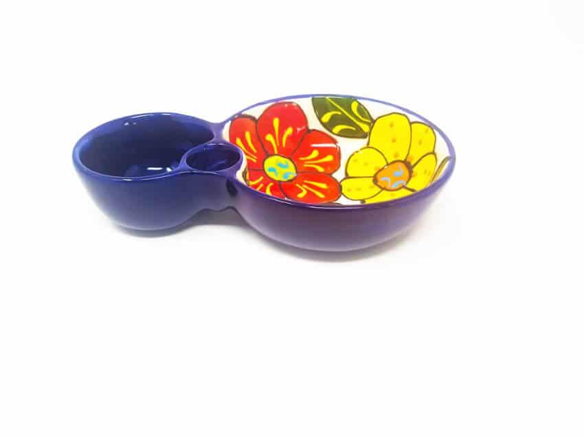 Verano Ceramics Classic Spanish Olive Dish 8 Floral 2