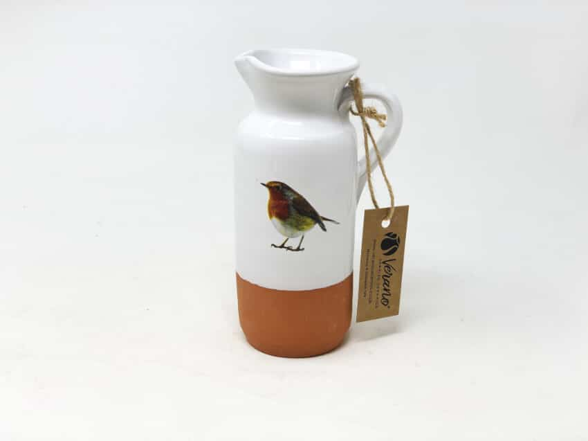 Verano Ceramics Rustic Robin Bottle Jug 3