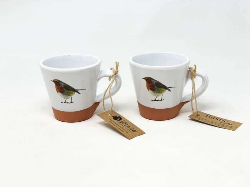 Verano Ceramics Rustic Robin Concial Cups 1