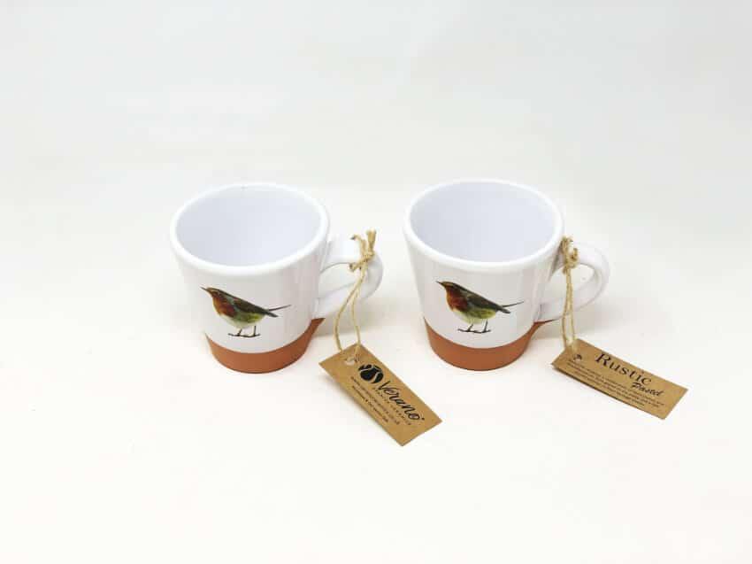 Verano Ceramics Rustic Robin Concial Cups 2