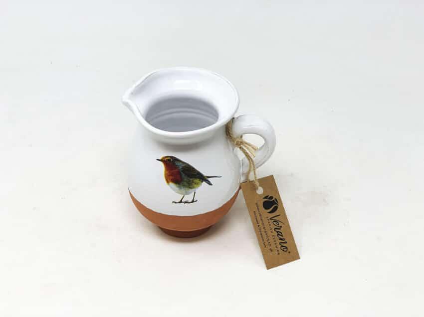Verano Ceramics Rustic Robin Mini Jug 2